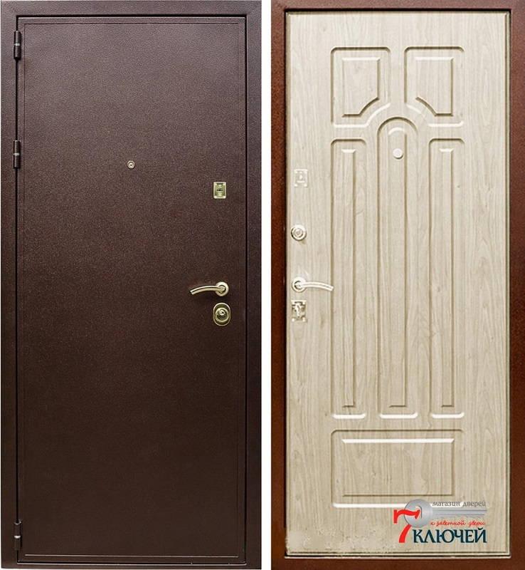 Дверь ЛЕКС МДФ 16 мм Беленый дуб